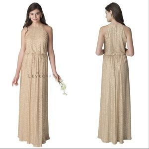 Bill Levkoff sequined floor length gown size 8